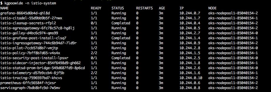 Deploying istio on azure kubernetes service (AKS)